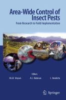 Cover image for Area-Wide Control of Insect Pests From Research to Field Implementation