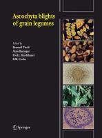 Cover image for Ascochyta blights of grain legumes