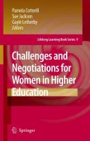 Cover image for Challenges and Negotiations for Women in Higher Education
