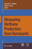 Cover image for Measuring Methane Production From Ruminants