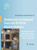 Cover image for Biodiversity in Enclosed Seas and Artificial Marine Habitats Proceedings of the 39th European Marine Biology Symposium, held in Genoa, Italy, 21-24 July 2004