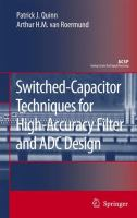 Cover image for Switched-Capacitor Techniques For High-Accuracy Filter And ADC Design