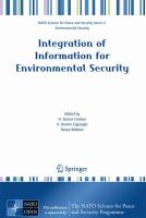 Cover image for Integration of information for environmental security