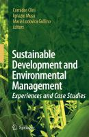 Cover image for Sustainable development and environmental management : experiences and case studies