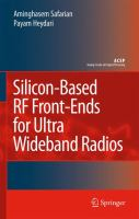 Cover image for Silicon-based RF front-ends for ultra wideband radios