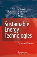 Cover image for Sustainable energy technologies : options and prospects