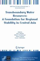 Cover image for Transboundary water resources : a foundation for regional stability in central Asia