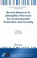 Cover image for Recent advances in adsorption processes for environmental protection and security