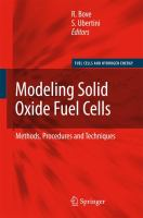 Cover image for Modeling solid oxide fuel cells : methods, procedures and techniques