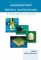Cover image for Microstrip patch antennas : a designer's guide