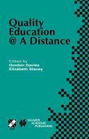 Cover image for Quality education @ a distance
