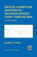 Cover image for Digital computer arithmetic datapath design using verilog hdl