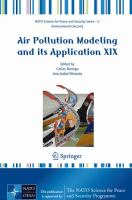 Cover image for Air pollution modeling and its application XIX