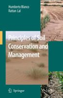 Cover image for Principles of soil conservation and management