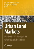 Cover image for Urban land markets : improving land management for successful urbanization
