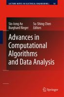 Cover image for Advances in computational algorithms and data analysis