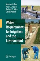 Cover image for Water requirements for irrigation and the environment