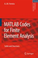Cover image for MATLAB codes for finite element analysis solids and structures