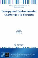 Cover image for Energy and environmental challenges to security