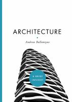 Cover image for ARCHITECTURE