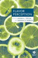 Cover image for Flavor perception
