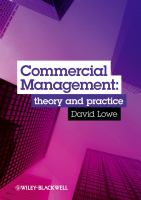 Cover image for Commercial management : theory and practice