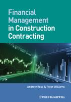 Cover image for Financial management in construction contracting