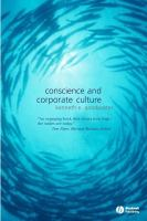 Cover image for Conscience and corporate culture