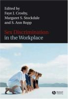 Cover image for Sex discrimination in the workplace: multidisciplinary perspectives