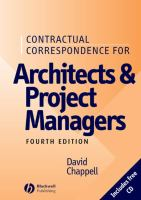 Cover image for Contractual correspondence for architects and project managers