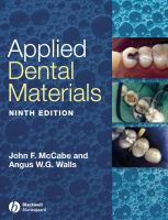 Cover image for Applied dental materials