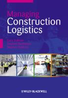 Cover image for Managing construction logistics