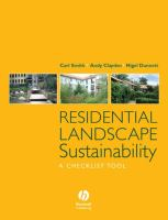 Cover image for Residential landscape sustainability : a checklist tool
