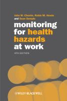 Cover image for Monitoring for health hazards at work