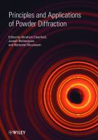 Cover image for Principles and applications of powder diffraction