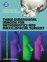 Cover image for Three-dimensional imaging for orthodontics and maxillofacial surgery