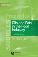 Cover image for Oils and fats in the food industry