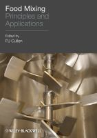Cover image for Food mixing : principles and applications
