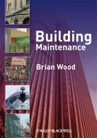 Cover image for Building maintenance