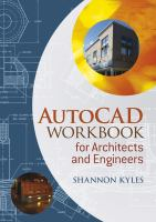 Cover image for AutoCAD workbook for architects and engineers