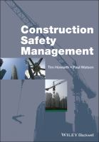 Cover image for Construction safety management