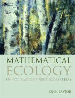 Cover image for Mathematical ecology of populations and ecosystems