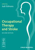 Cover image for Occupational therapy and stroke