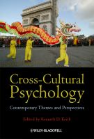 Cover image for Cross-cultural psychology : contemporary themes and perspectives