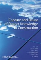 Cover image for Capture and reuse of project knowledge in construction