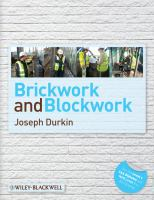 Cover image for Brickwork & blockwork