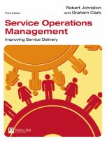 Cover image for Service operations management : improving service delivery