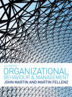 Cover image for Organizational behaviour and management