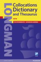 Cover image for LONGMAN : Collocations Dictionary and Thesaurus