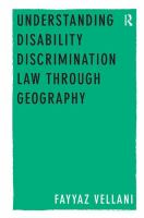 Cover image for Understanding disability discrimination law through geography
